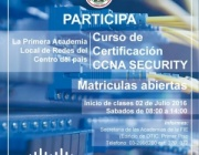 "MATRÍCULAS ABIERTAS PARA EL CURSO ""CISCO CCNA SECURITY"""